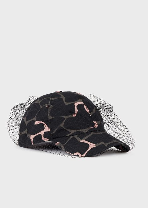 Beret in jacquard-pattern fabric