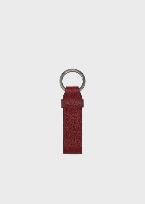 GIORGIO ARMANI Leather Keychain Man r