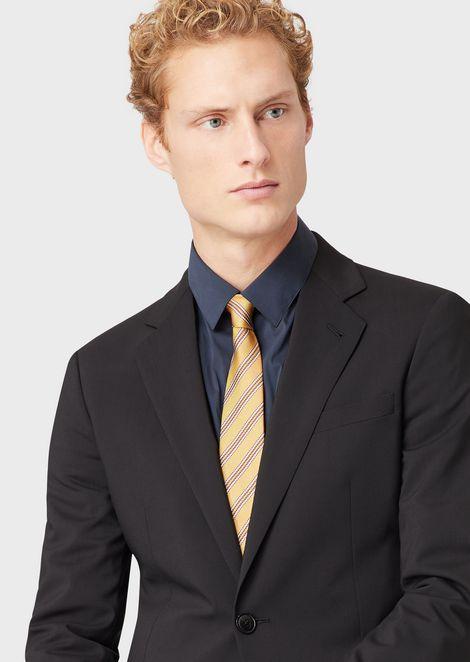 Corbata de seda con estampado militar