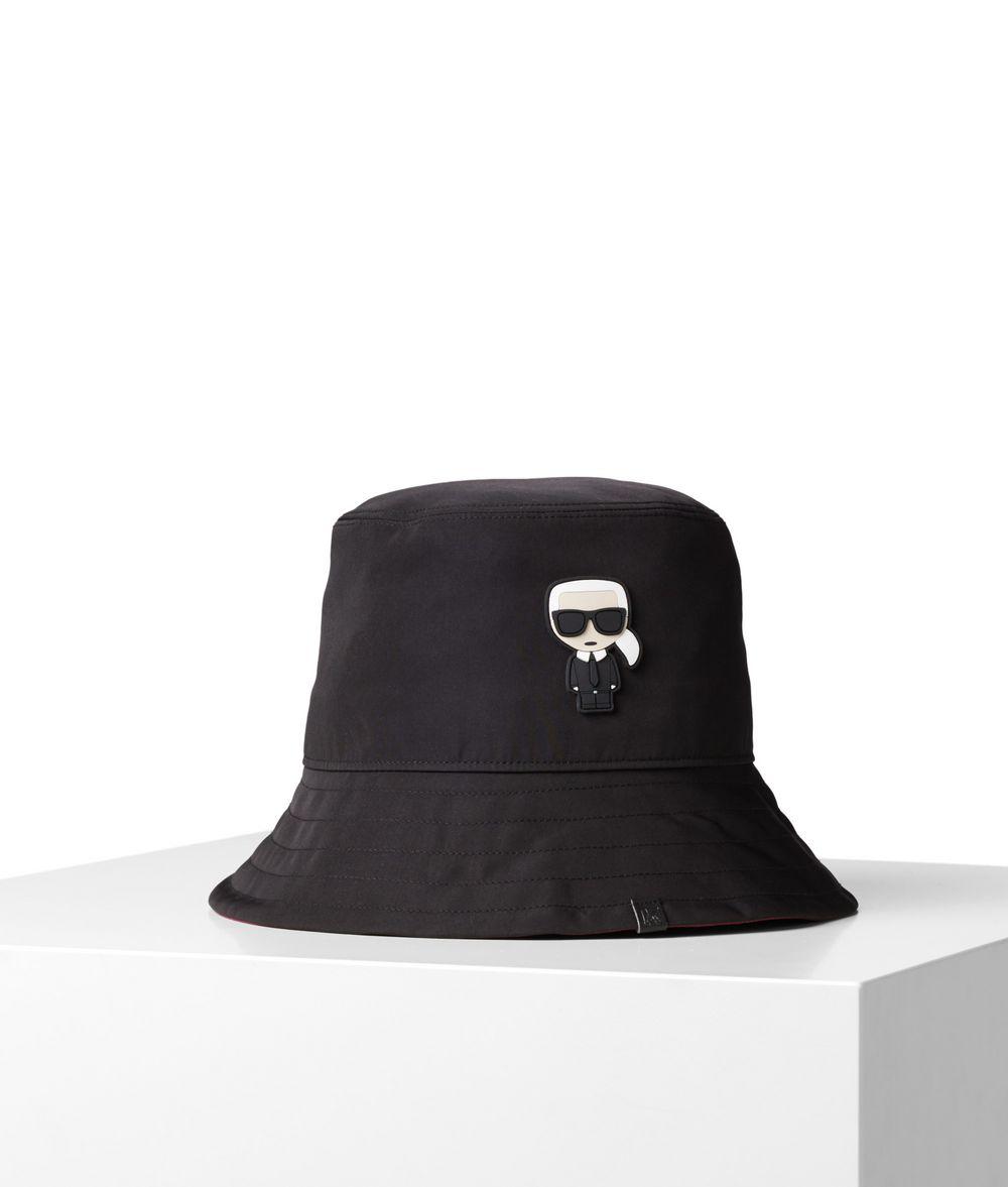 KARL LAGERFELD K/Ikonik Bucket Hat Hat E f