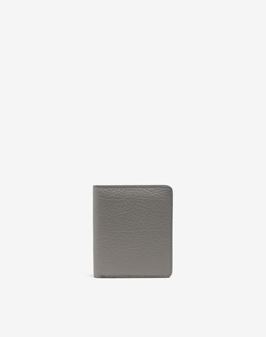 ACCESSORIES Leather popper wallet Grey