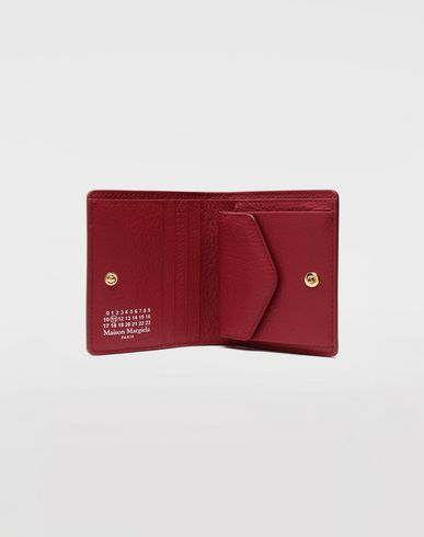 Small Leather Goods  Leather popper wallet Red