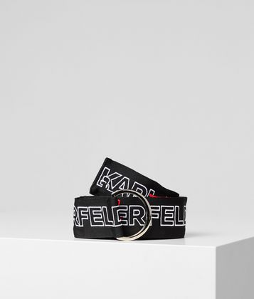 KARL LAGERFELD K/KARL ALLOVER LOGO BELT