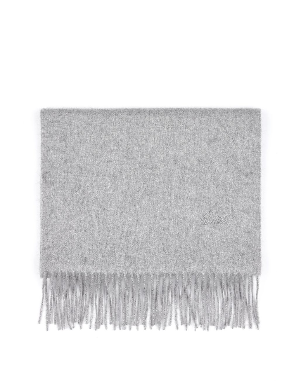 BRIONI Gray Scarf Foulards & Scarves Man f