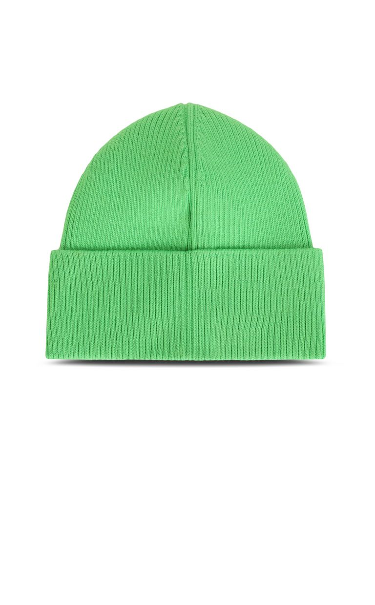 JUST CAVALLI Neon-green beanie with logo Hat Man r