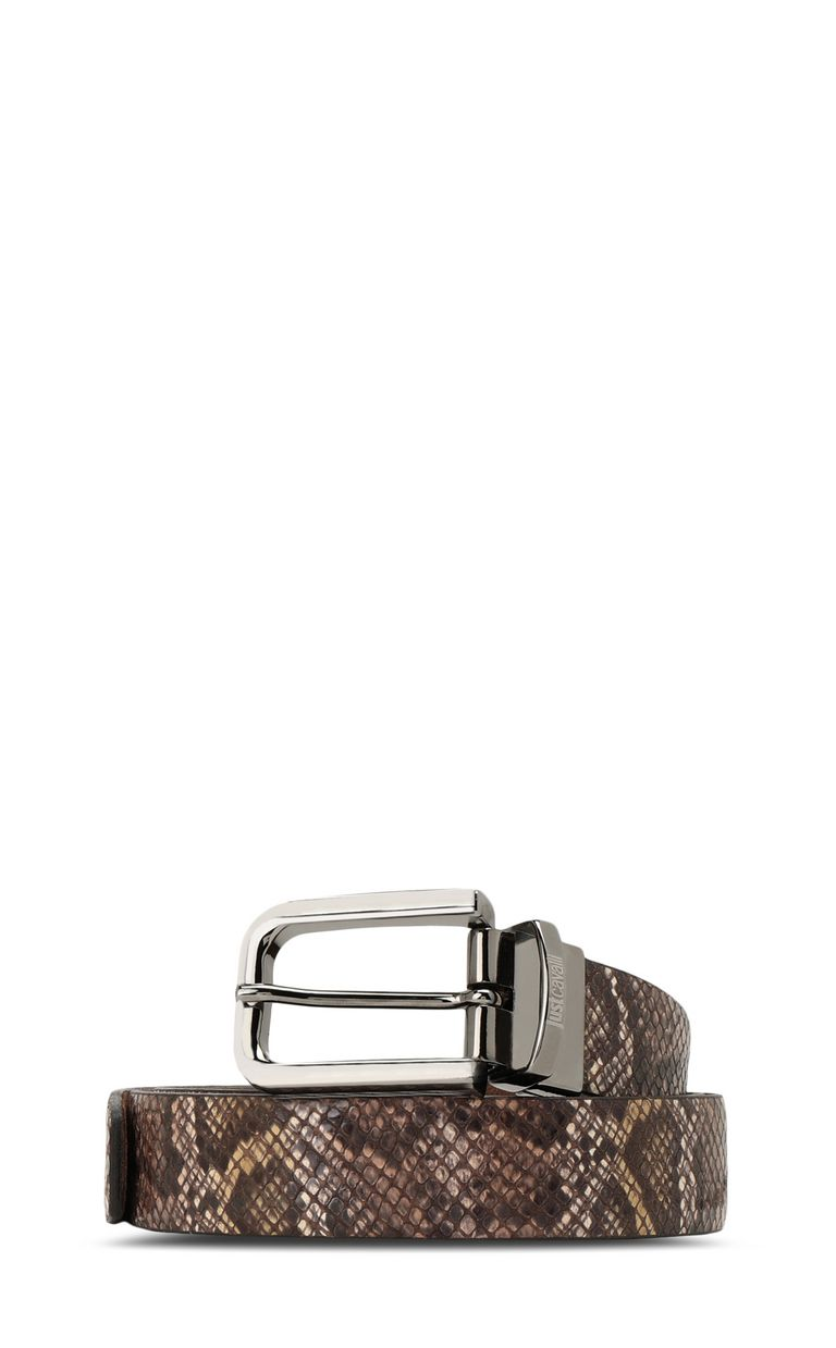 JUST CAVALLI Python-print belt Belt Man f