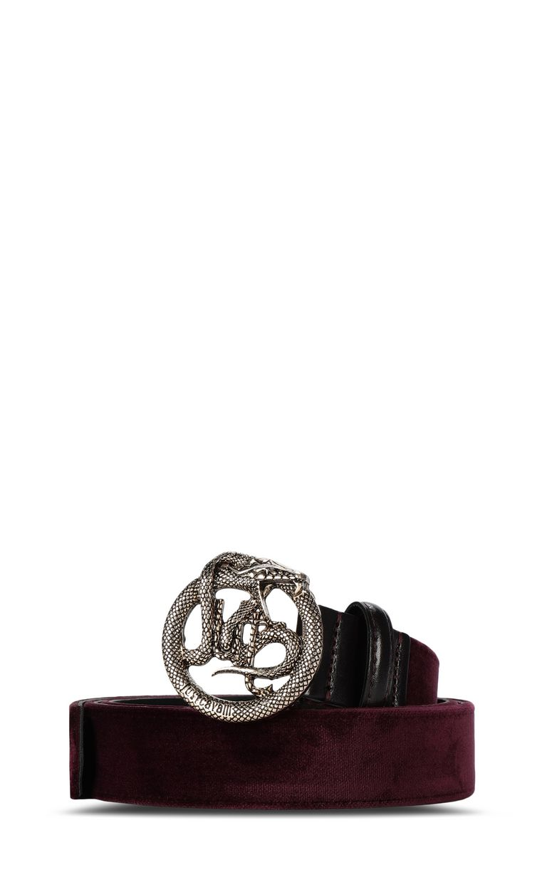 JUST CAVALLI Belt with logoed buckle Belt Woman f