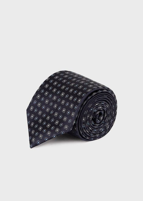 8c477946d42d Silk tie with optical pattern