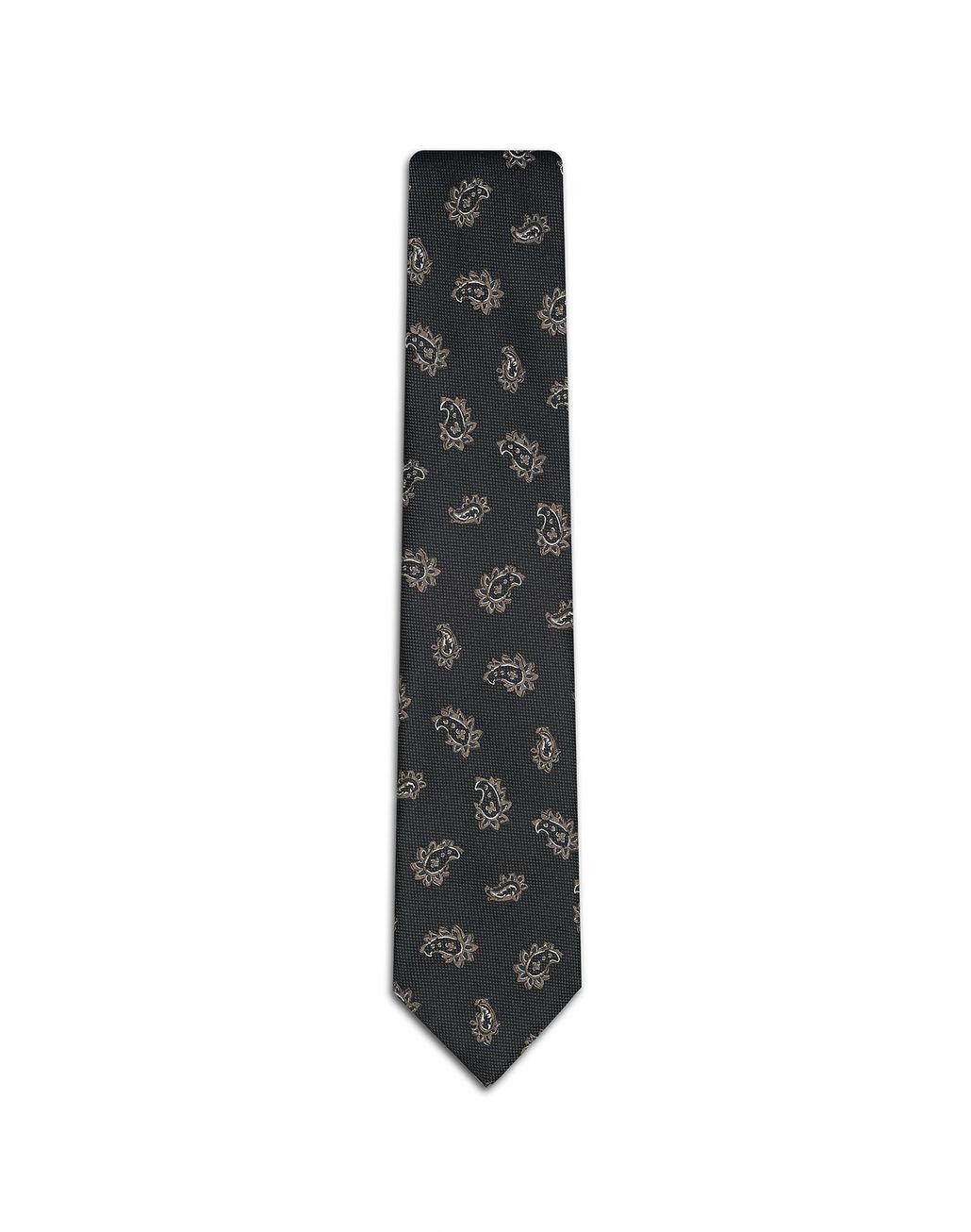 BRIONI Gray Paisley Tie Tie Man f