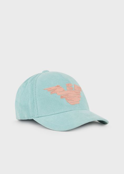 Baseball cap with eagle print