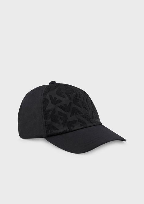 Baseball cap with jacquard eagle