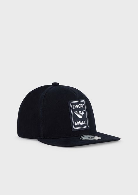 Baseball cap with embroidered patch