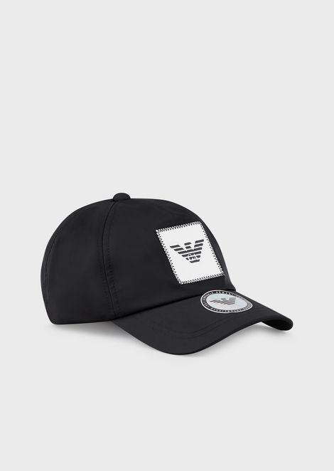 Baseball cap with logo patch