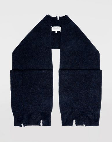 ACCESSORIES Reworked wool scarf Blue