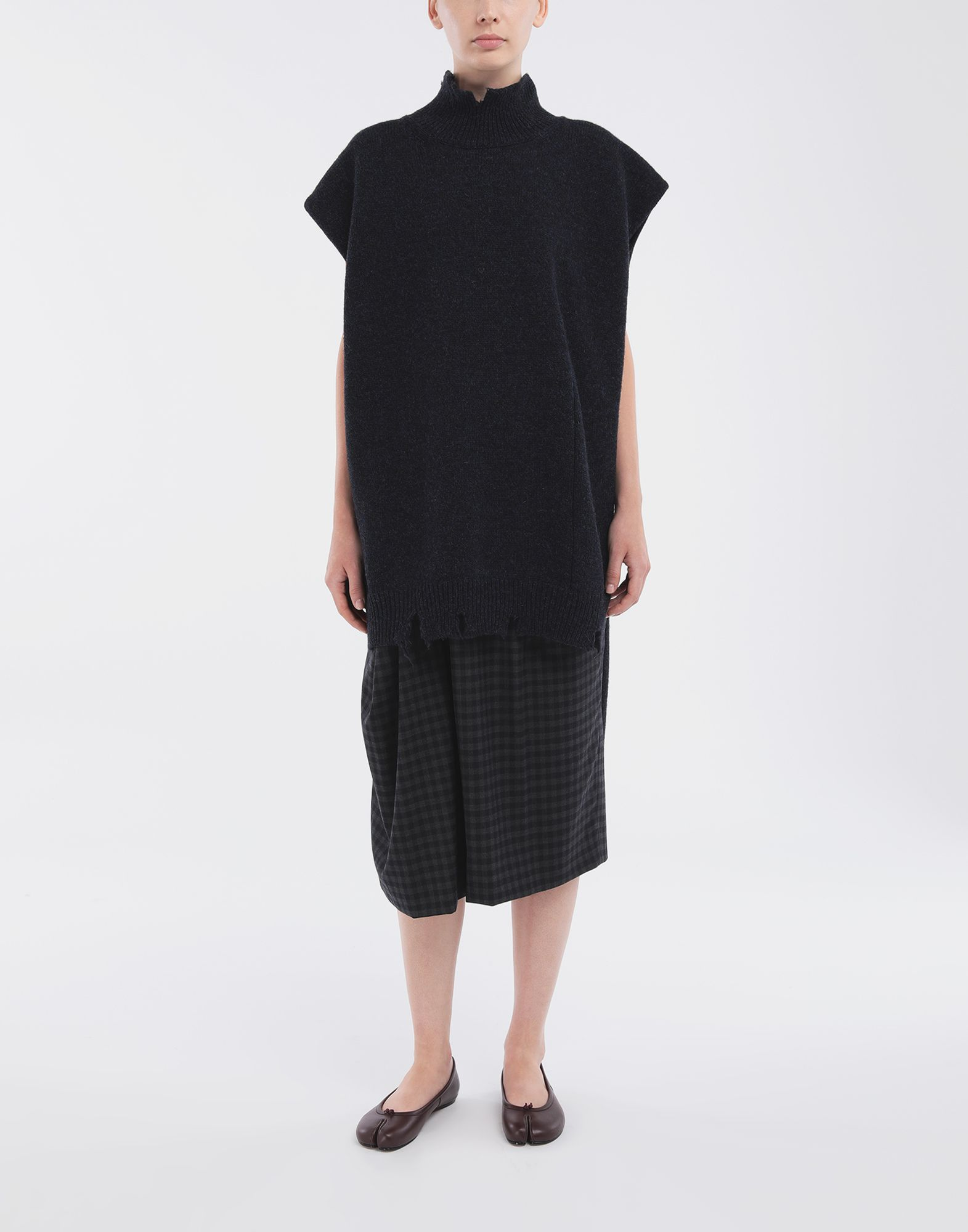 MAISON MARGIELA Destroyed wool tabard Stole Woman d