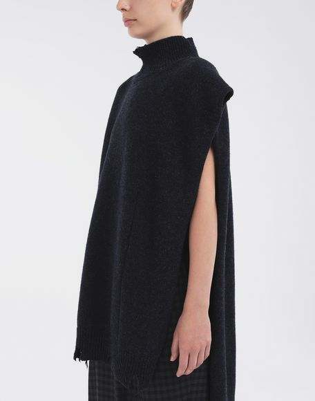 MAISON MARGIELA Destroyed wool tabard Scarves and Stoles Woman a