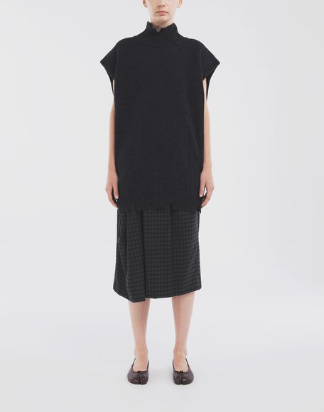 MAISON MARGIELA Destroyed wool tabard Stole Woman r