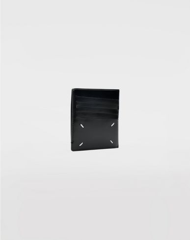 Small Leather Goods  Calfskin card-holder Black