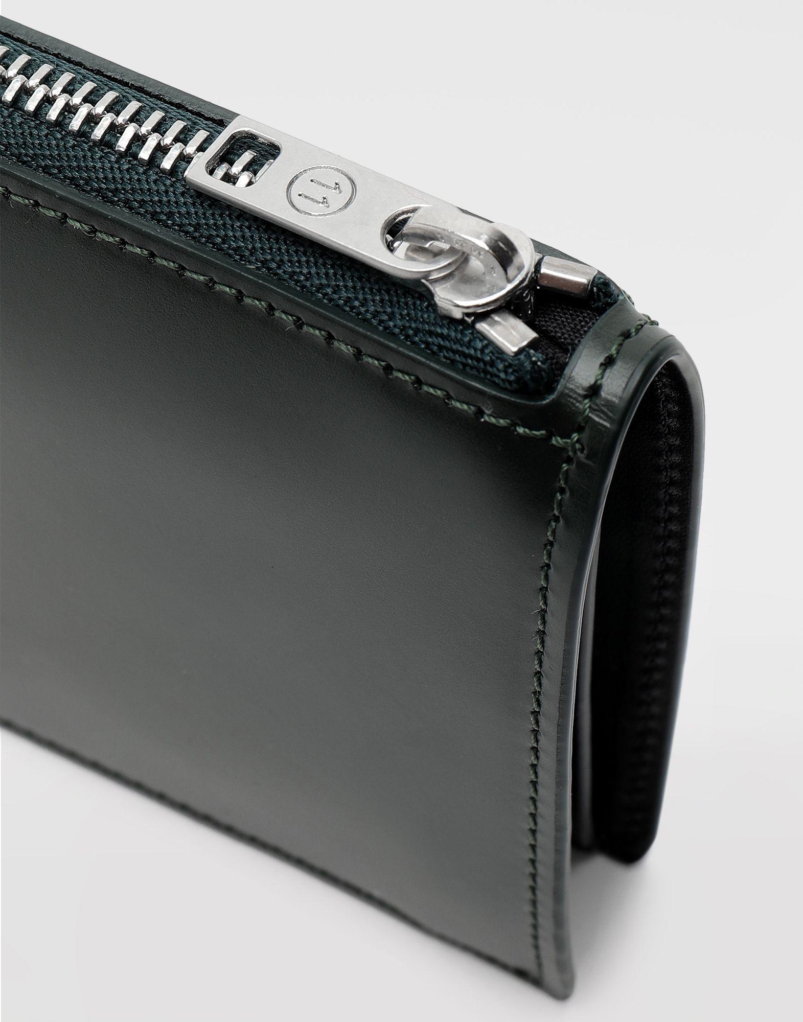MAISON MARGIELA Kleine, zweifach klappbare Brieftasche aus Kalbsleder Portemonnaie Herr a