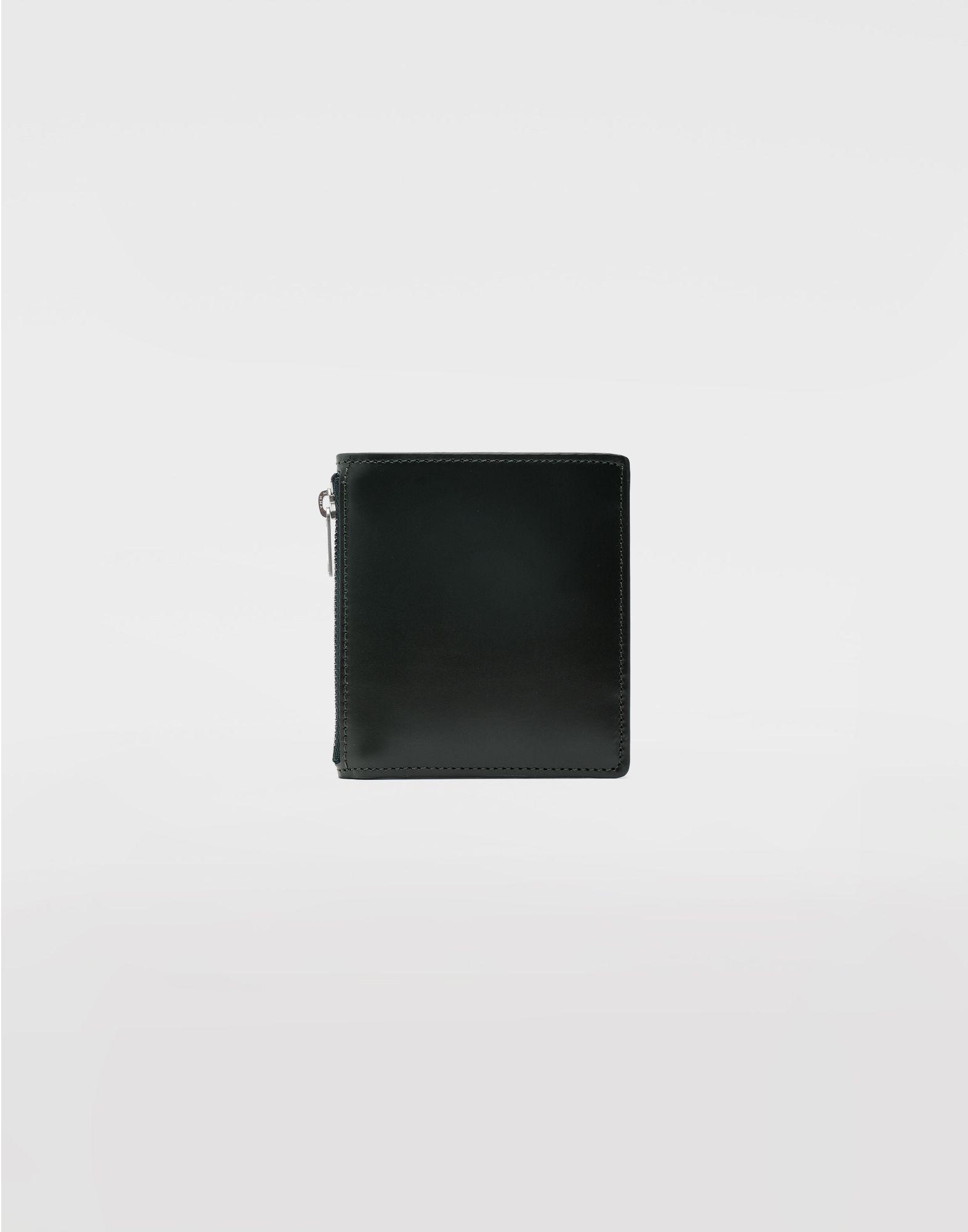 MAISON MARGIELA Kleine, zweifach klappbare Brieftasche aus Kalbsleder Portemonnaie Herr f