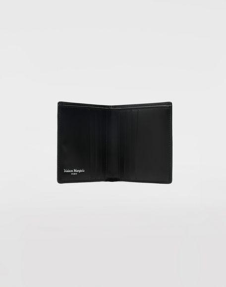 MAISON MARGIELA Kleine, zweifach klappbare Brieftasche aus Kalbsleder Portemonnaie Herr d