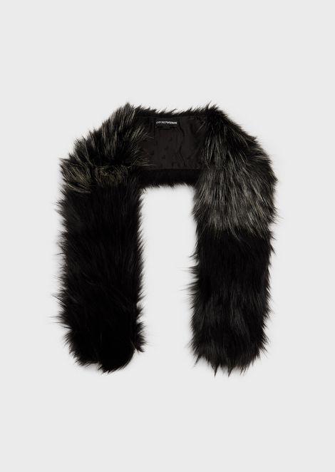 Gradient, faux-fur scarf