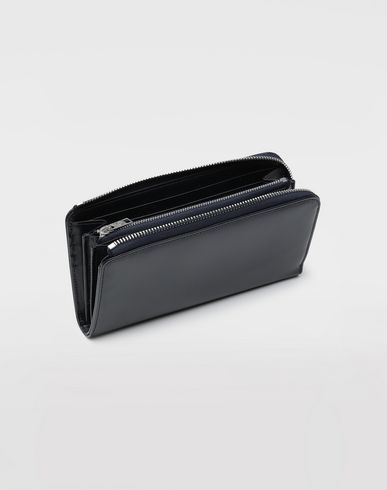 ACCESSORIES Zip-around leather wallet  Blue