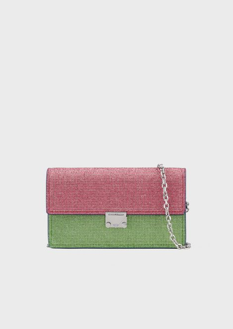 5358ae45c3 Faux-nappa full-zip wallet with logoed band | Woman | Emporio Armani