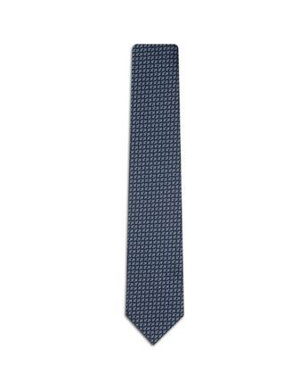 Cravatta Blu con Motivo Geometrico