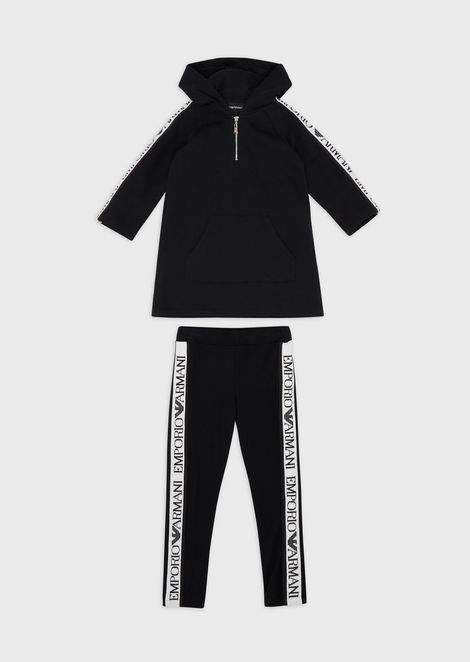Cotton tracksuit with logo bands