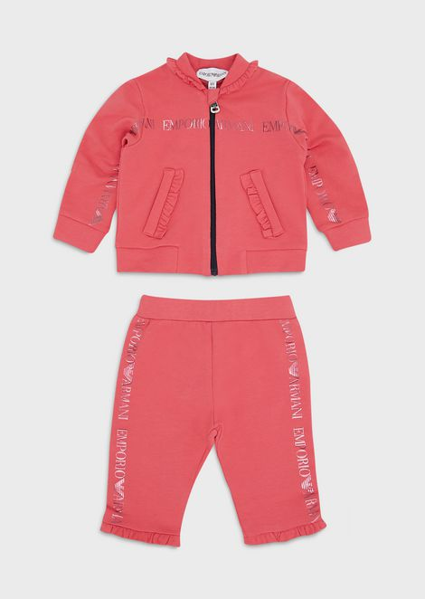 Tracksuit with logo print and ruffle trim