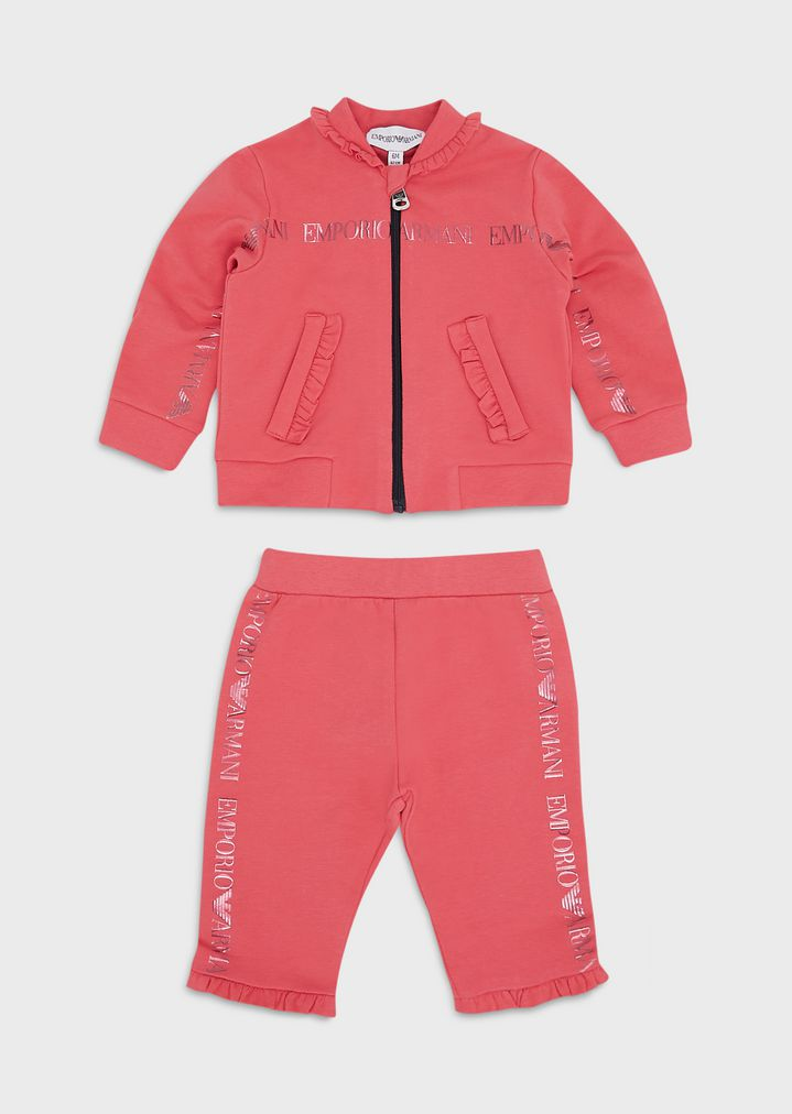 official photos pick up united states Tracksuit with logo print and ruffle trim