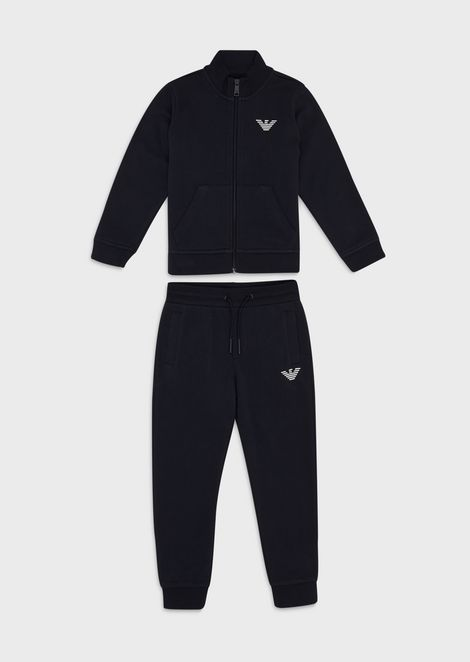 Cotton tracksuit with small logo