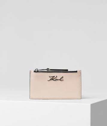 KARL LAGERFELD K/SIGNATURE CARD HOLDER