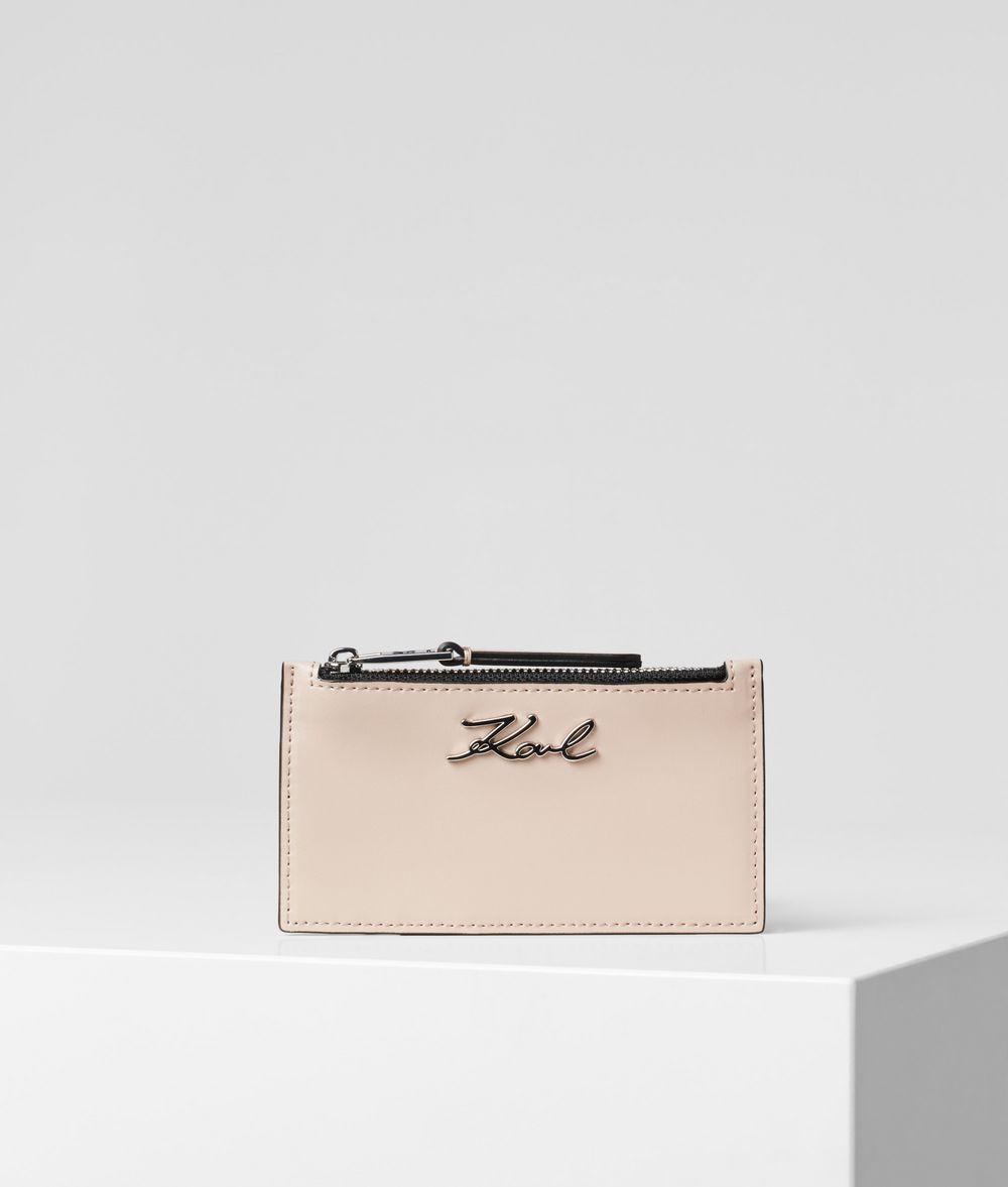 KARL LAGERFELD K/Signature Card Holder Cardholder Woman f