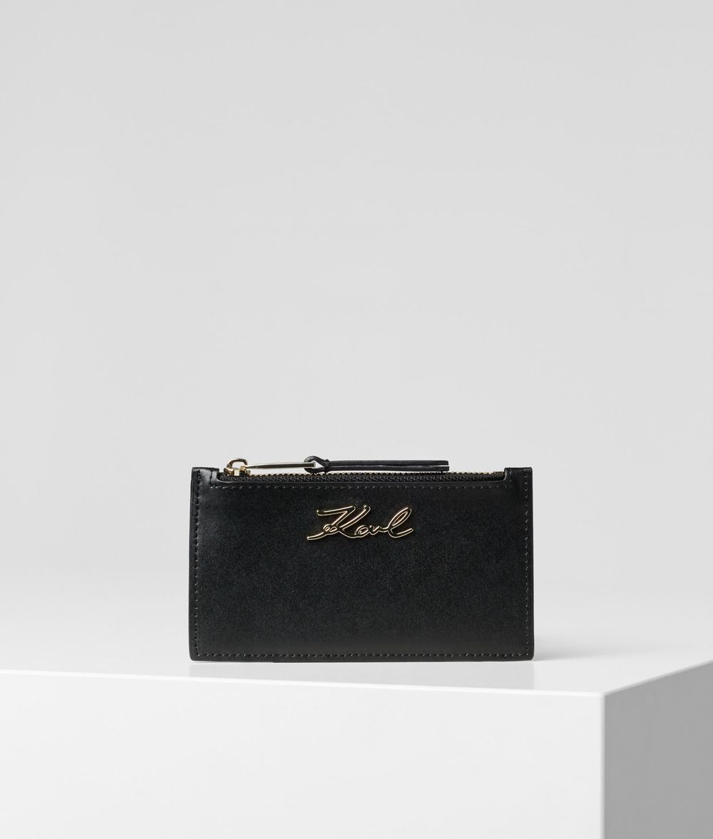 KARL LAGERFELD K/Signature Card Holder Кредитница Для Женщин f