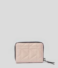 KARL LAGERFELD K/Kuilted Small Zip-Around Wallet 9_f