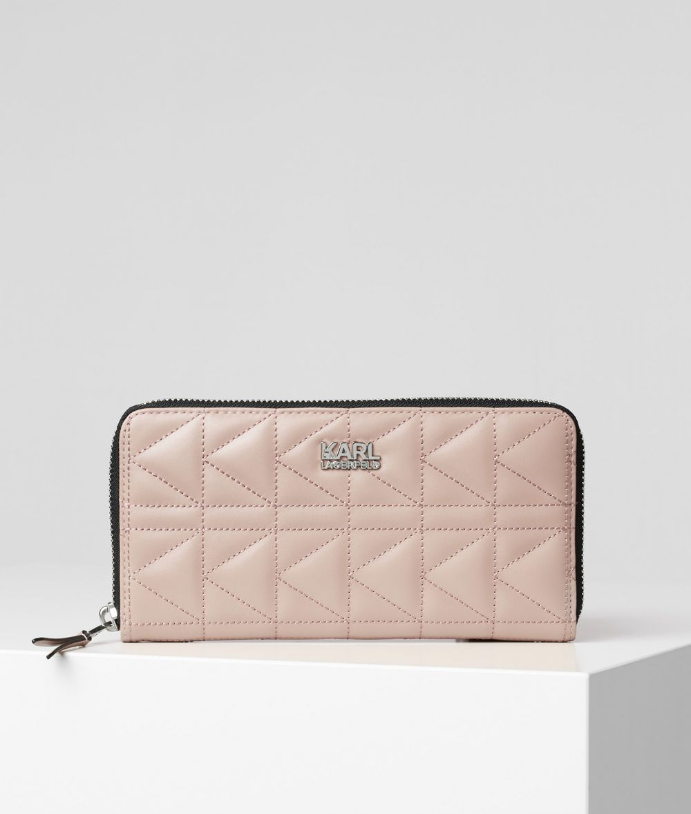 KARL LAGERFELD K/Kuilted Small Zip-Around Wallet Wallet Woman f