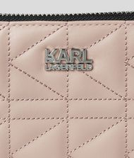 KARL LAGERFELD K/Kuilted Small Zip-Around Wallet 9_f