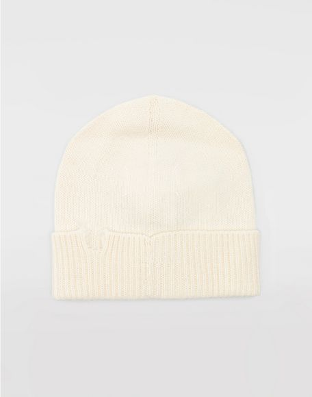 MAISON MARGIELA Destroyed wool beanie Hat Woman r