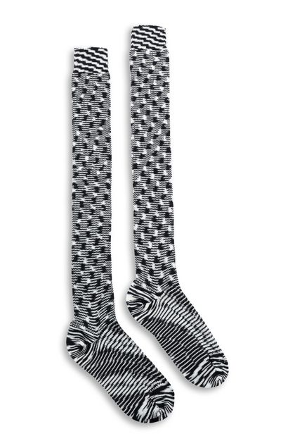 MISSONI Long socks Black Woman - Back
