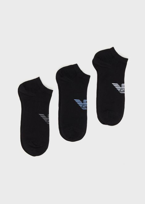 Pack of 3 pairs of trainer socks with eagle logo