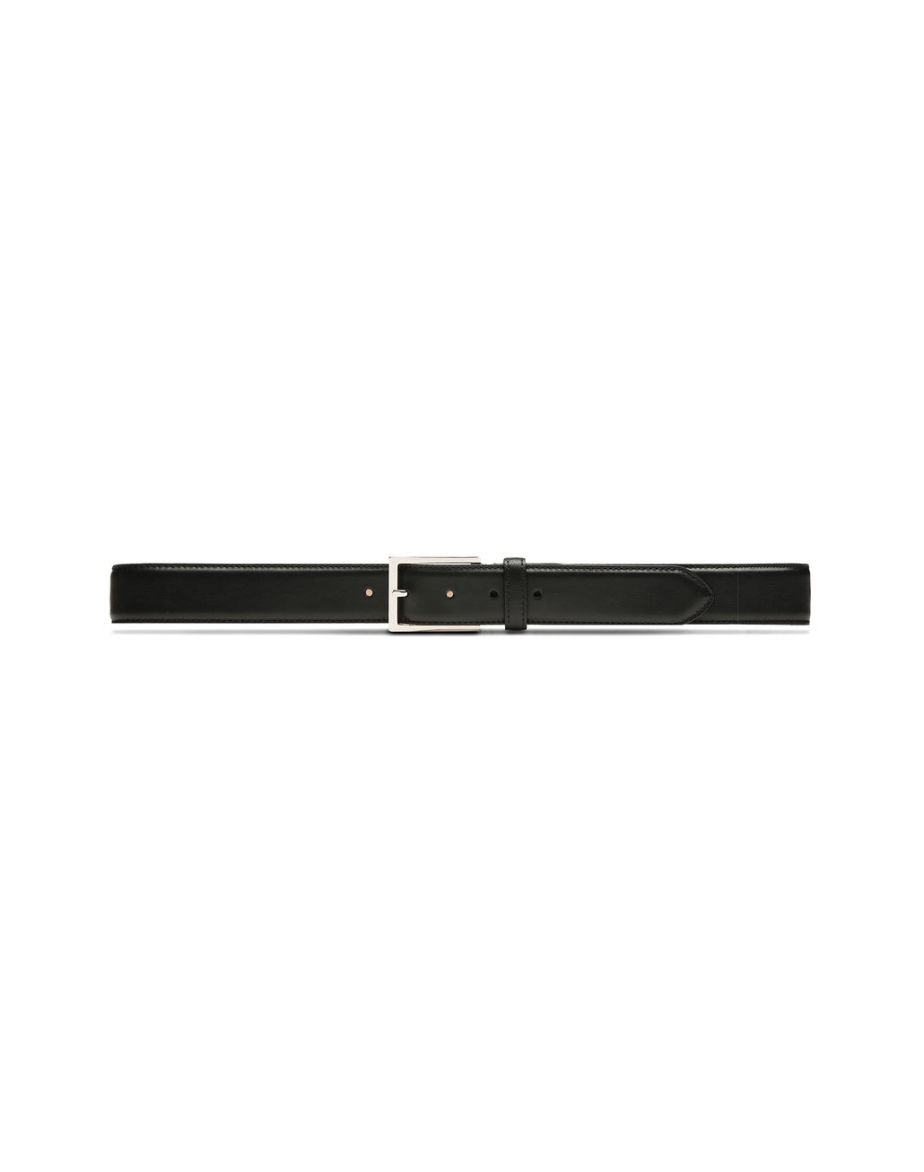 BRIONI Black Rectangular Belt Belt Man f