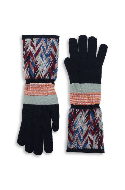 MISSONI Gloves Dark blue Woman - Back