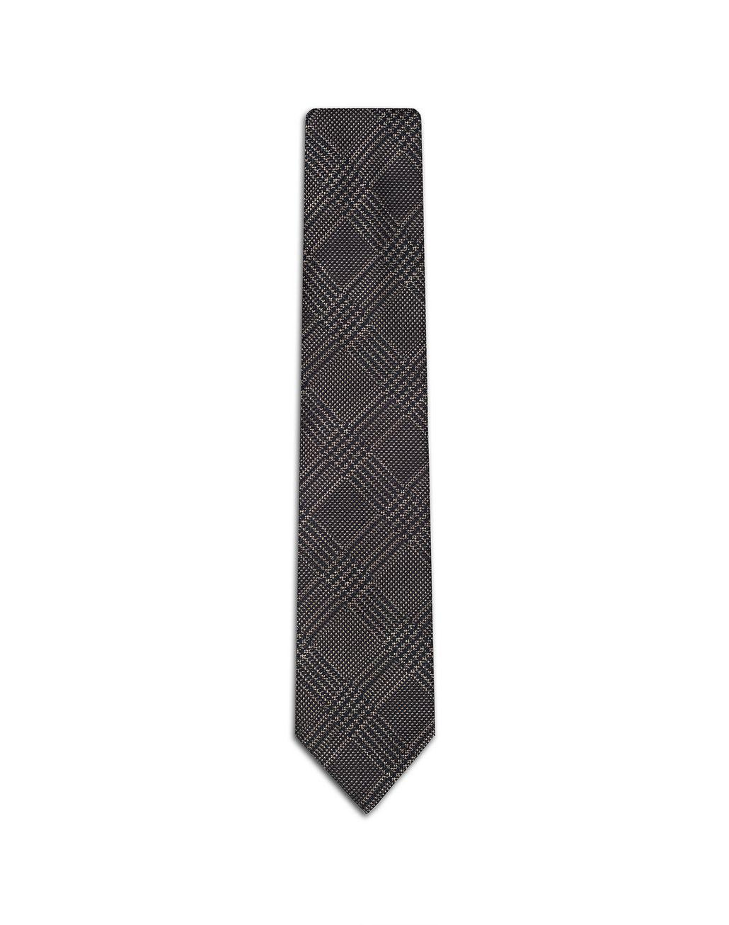 BRIONI Brown Prince of Wales Tie Tie Man f