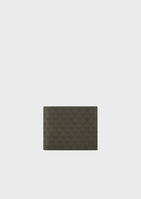 Wallet with coin purse and all-over monogram