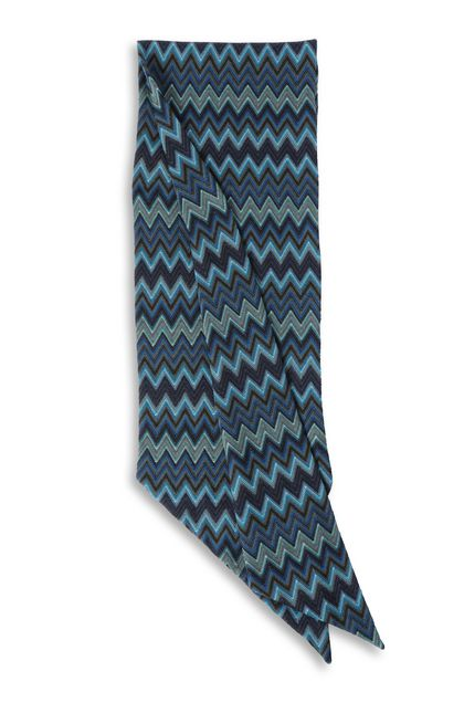MISSONI Scarf Dark blue Man - Front