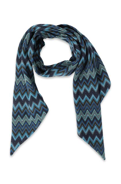 MISSONI Scarf Dark blue Man - Back