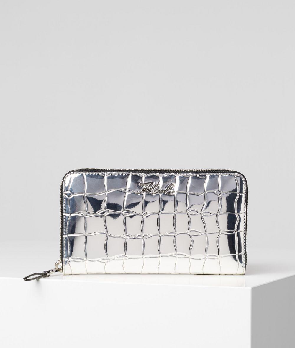 KARL LAGERFELD K/Signature Zipped Wallet Wallet Woman f