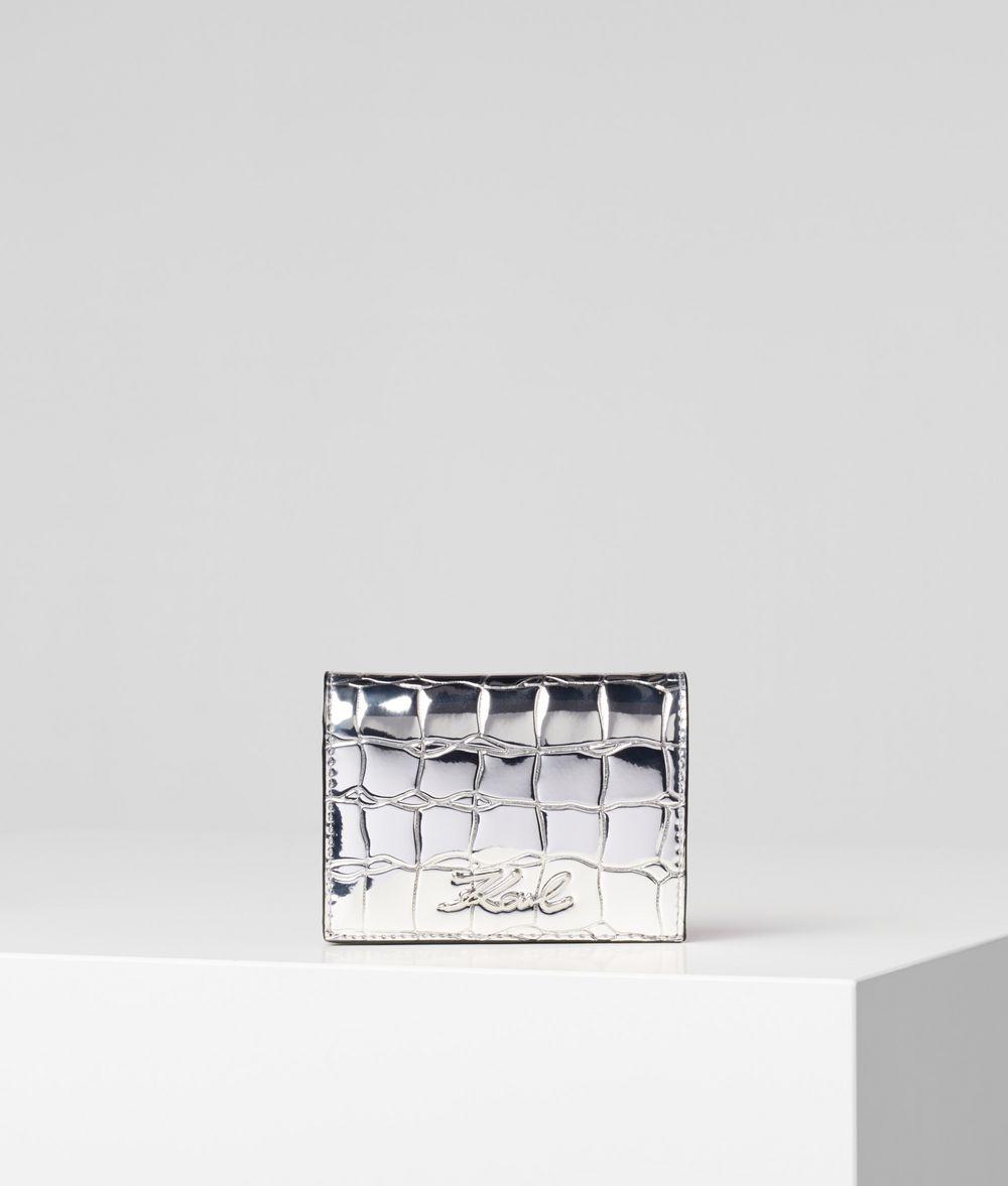 KARL LAGERFELD K/Signature Fold Wallet Wallet Woman f